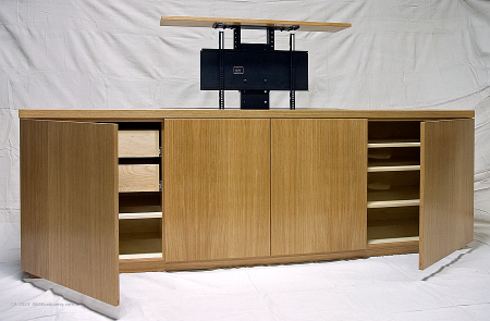 TV cabinet made for the master bedroom, Residence, Westchester County, NY.